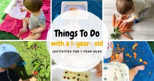 Things to do with a one year old - activities for one year olds
