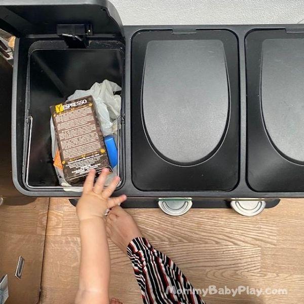 copy & repeat put things in the bin