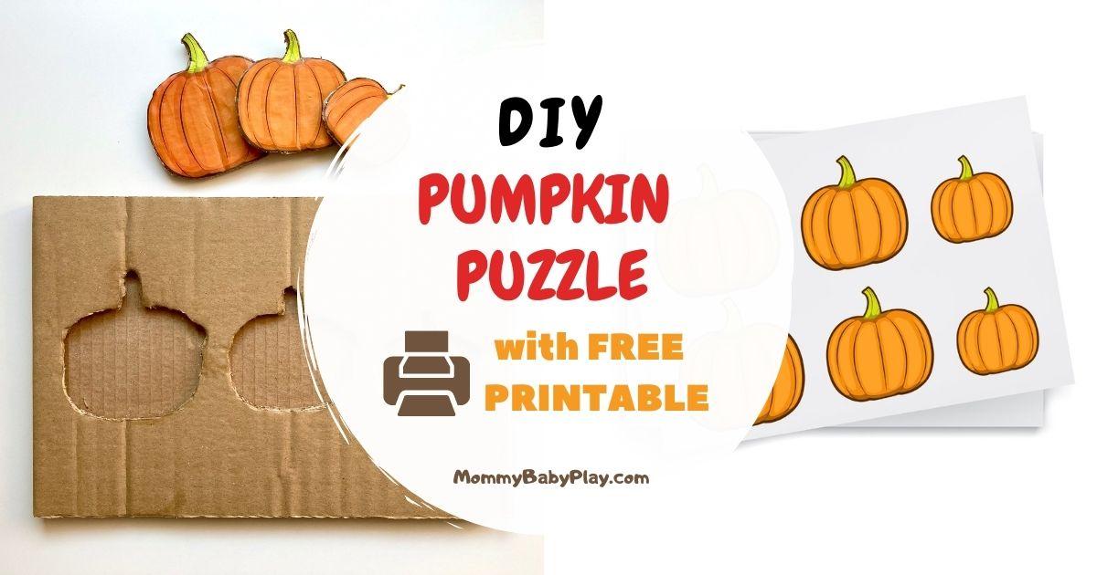 DIY Pumpkin Puzzle With Free Printable