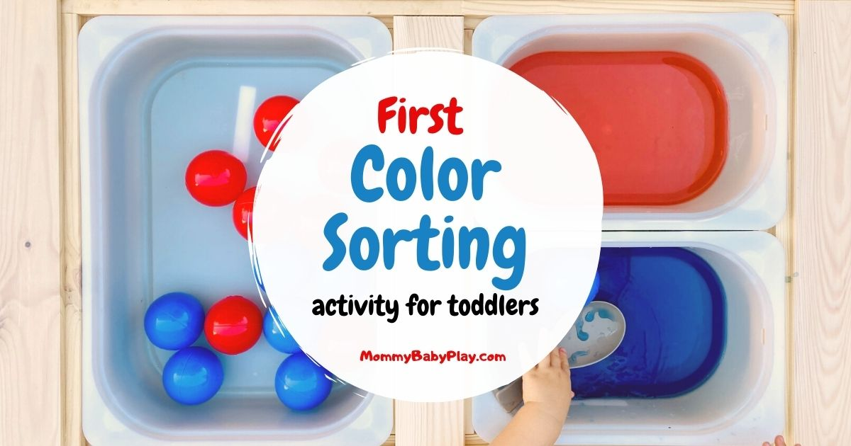 First Color Sorting Activity For Toddlers