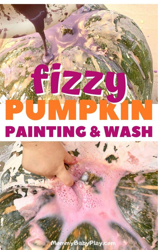 Fizzy Pumpkin Painting & Wash