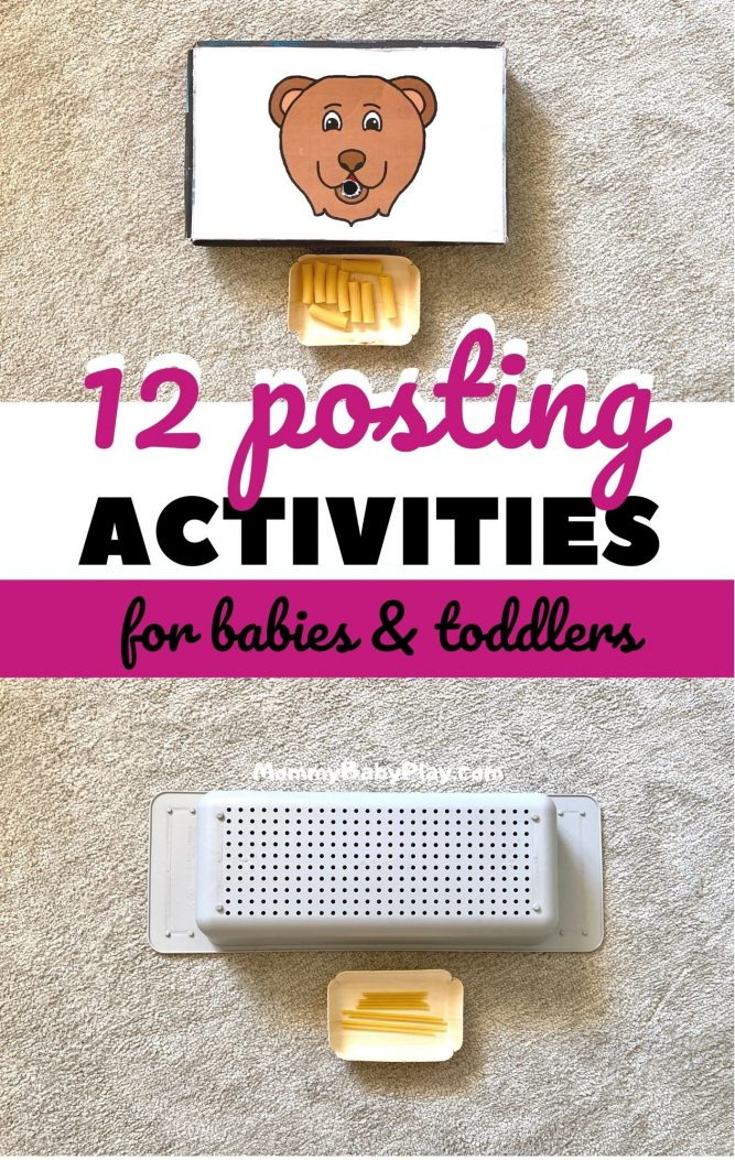 12 Posting Activities For Babies & Toddlers