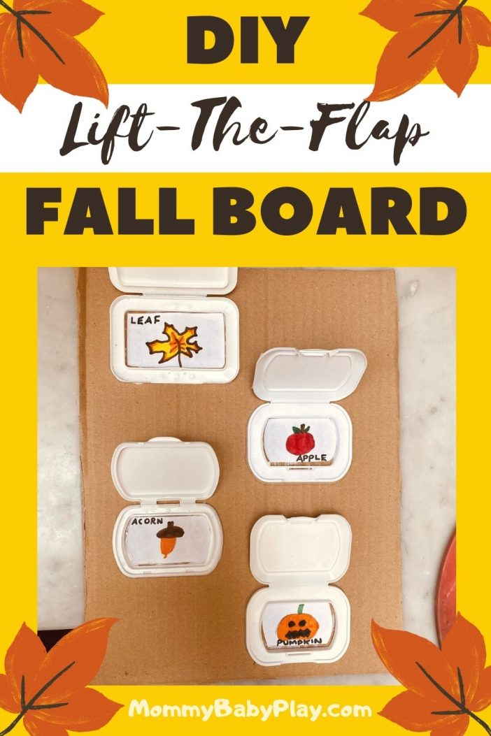 Fall Activity For Toddlers - DIY Lift the Flap Fall Board