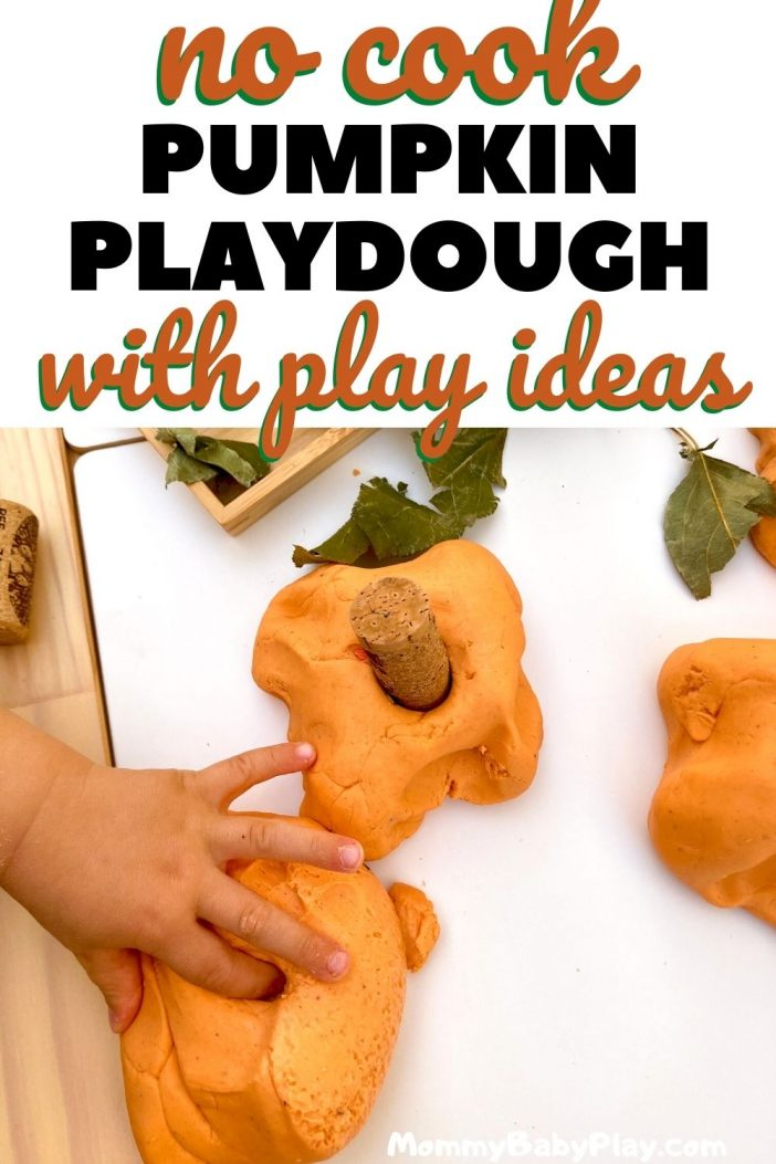 No Cook Pumpkin Playdough Recipe With Play Ideas!
