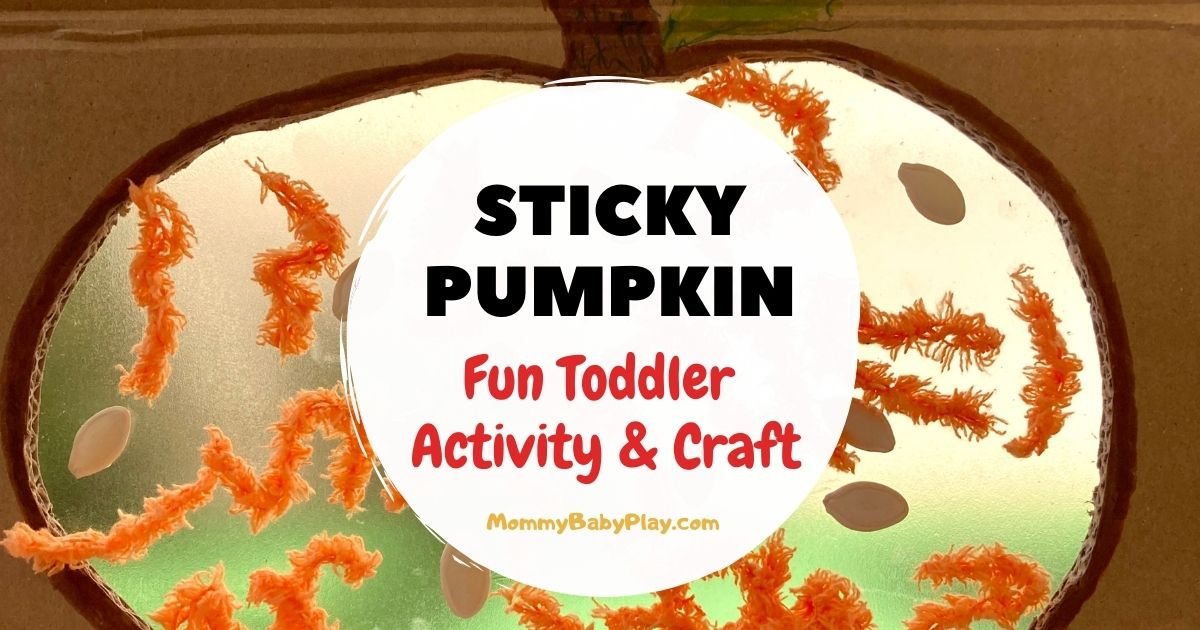 Sticky Pumpkin Activity & Craft