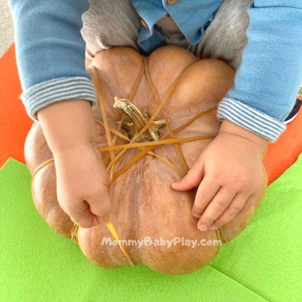 Rubber Band & Pumpkin Activity