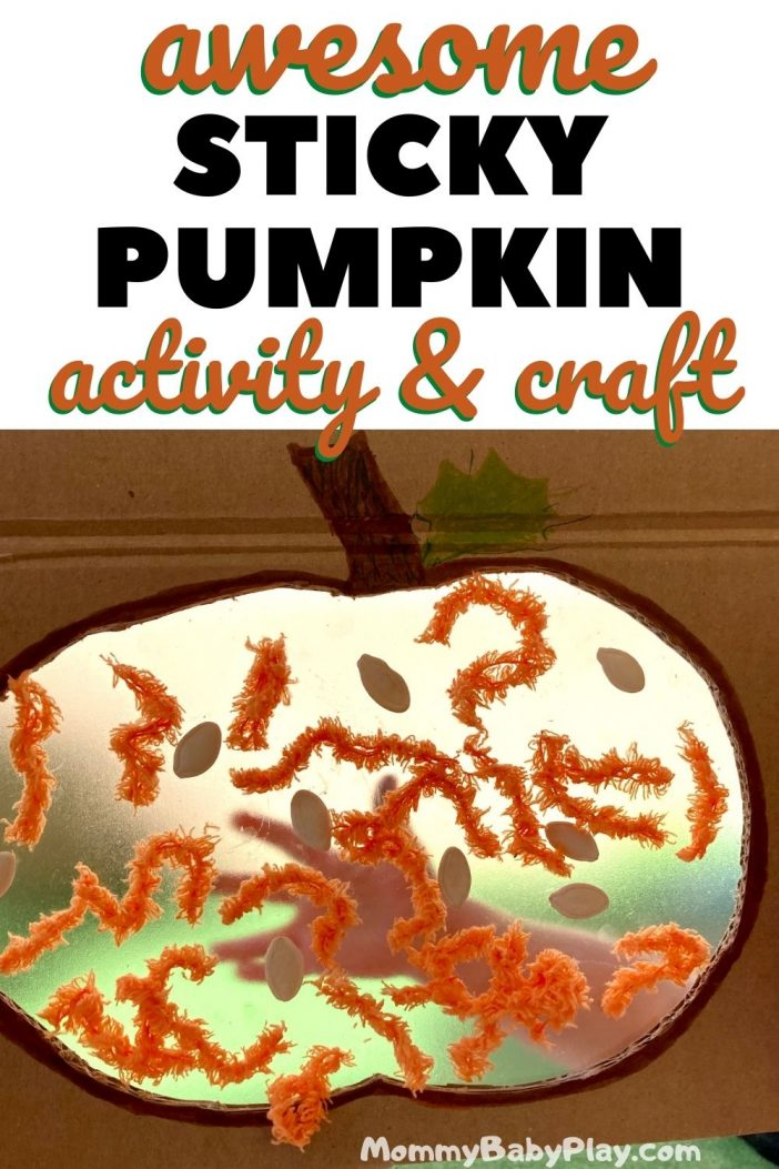 Simple & Fun Sticky Pumpkin Activity & Craft!