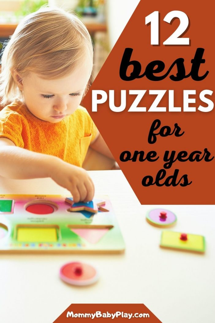 Best Puzzles For 1 Year Olds that promote development, learning and are super fun to do!