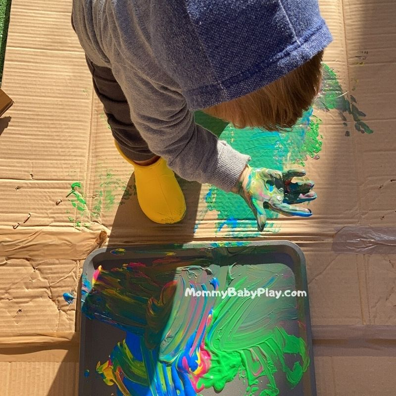 Rain Boot Printing - Awesome Process Art Activity For Toddlers