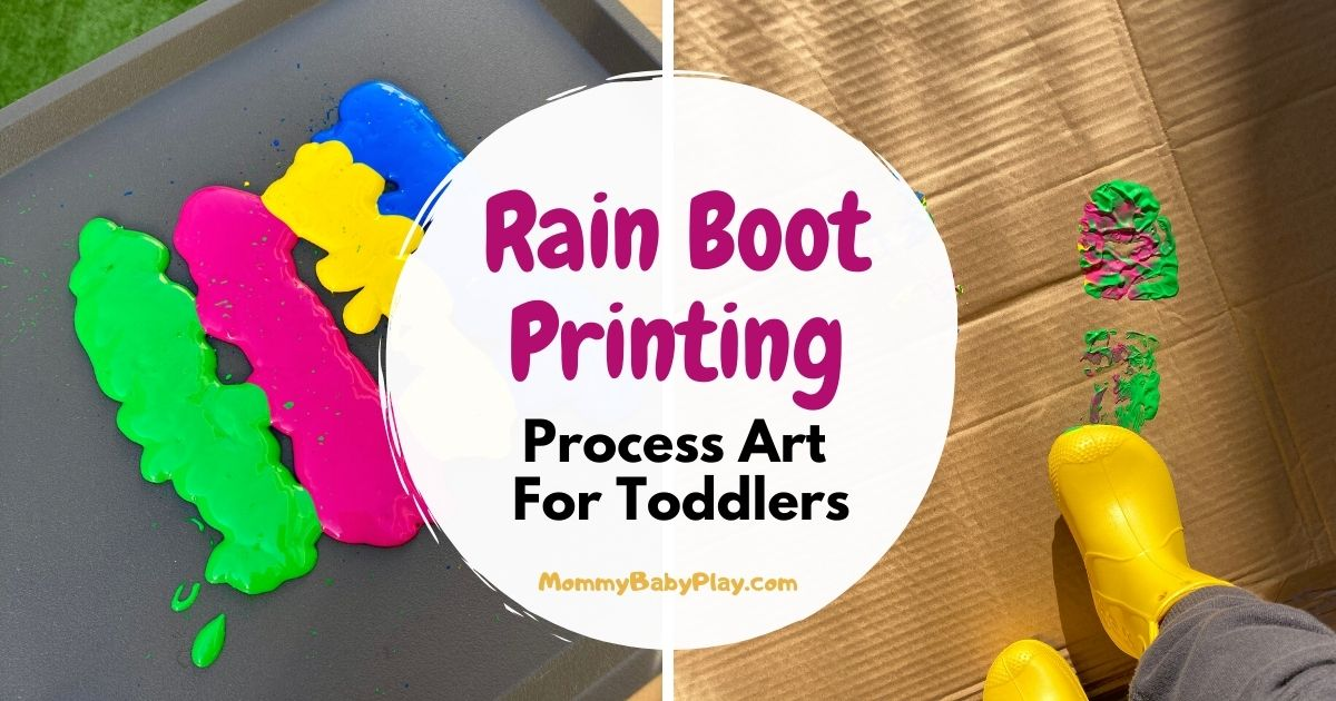 Wellie Boot Printing - Awesome Process Art Activity For Toddlers