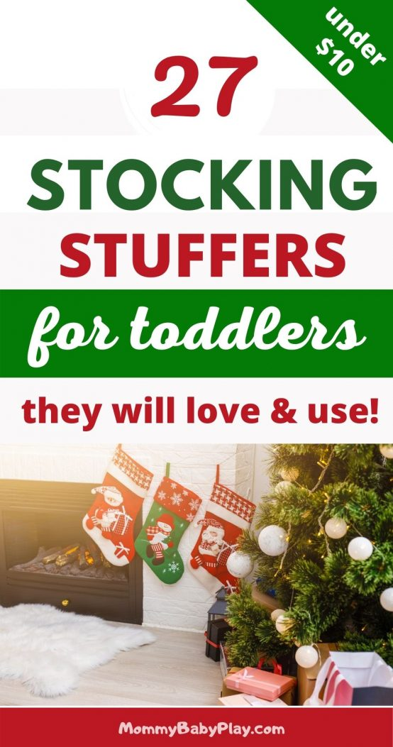 27 Stocking Stuffer Ideas For Toddlers That Cost $10 or Less